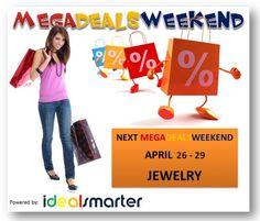 MegaDealsWeekend_April-26-29 April 19, Online Deals, 21st, Best Deals, Free, Jewelry, Amazing, Shopping, Jewlery