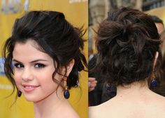 messy curly hairstyles bun
