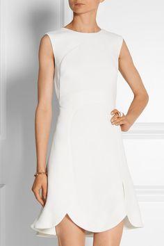 Check out this big scallop hem detail. Antonio Berardi wool-crepe dress.