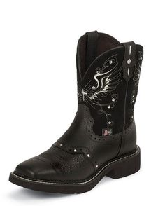Women's Black Deeercow Cowhide Boot - L9977