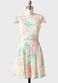 Two things that I love most in life: floral and lace.  Watercolor Reverie Lace Dress from shopruche.com