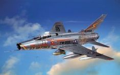 art plane north american f-100 super sabre american single single-engined supersonic fighter fighter interceptor fighter bomber plane scout first to the world serial supersonic fighter air force unite
