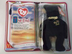 e8a7caa3cc3 Teenie Beanies 441  Rare Retired Ty Teenie Beanie Bear The End The Bear 2000  Mcdonalds