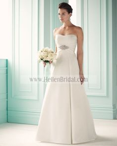 Gown 1657 | 2012 Spring Collection | Mikaella Bridal (Shown Beaded Brooch detail at Empire waist)