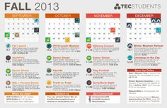 Fall youth group calendar