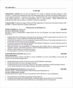 Executive Secretary Resume Some Important Tips To Have The Best Executive Assistant Resume