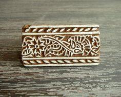 Flower Stamp Hand Carved Wood Stamp Indian Flower by DelhiDaze, $6.00