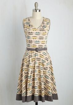 Transit Antics Dress. The train into town is full of fun characters, and this stretch cotton dress by Cali-based Effies Heart only adds to yours! #multi #modcloth