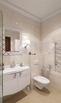 Бежевая ванная - дизайн интерьера: фото идеи: