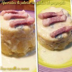 Sformati di polenta con salsa al gorgonzola