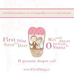 First Thing - save the date Mai mult decat o invitatie de nunta, o poveste despre voi! Fotografiile sunt in rolul principal