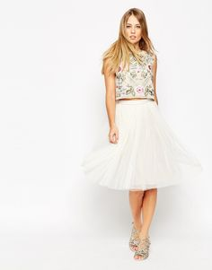 Image 1 of Needle & Thread Tulle Ballet Midi Skirt