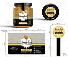 Packaging Design by SofiaDesignStudio for Hexagon Honey Bottle Design, simple an… – Honig , Salatdressing und mehr Honey Packaging, Chocolate Packaging, Food Packaging Design, Bottle Packaging, Packaging Design Inspiration, Coffee Packaging, Jar Design, Bottle Design, Logo Design