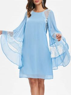 2020 Chiffon dress patterns indispensable in summer night and daily is one of the most preferred clothes.Fringe Detailed Summer DressSiphon The fabric is lightweight and tidy and looks very comfortable and stylish. Cheap Dresses, Casual Dresses, Short Dresses, Fall Dresses, Formal Dresses, Women's Fashion Dresses, Dress Outfits, Chiffon Dress Long, Designs For Dresses