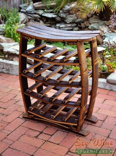 Wine Barrels Hand Crafted Furniture from Wine Oak Barrels Wine Barrel Diy, Wine Barrel Chairs, Wine Barrels, Handmade Furniture, Rustic Furniture, Modern Furniture, Furniture Design, Bourbon Barrel Furniture, Standing Wine Rack