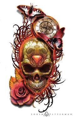 Sugar Skull Tattoo by Loren86 on @DeviantArt