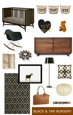 Hello Baby by Babylist – Pregnancy and Parenting Advice Black and Tan Nursery Inspiration Black Crib Nursery, Brown Nursery, Nursery Neutral, Nursery Room, Baby Boy Rooms, Baby Boy Nurseries, Baby Room, Brown Crib, Nursery Inspiration