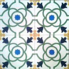Encaustic cement tile custom design#yellow #blue #green #tiles #tile #floor #azulejos #home #casa