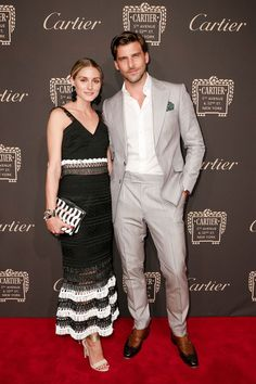 Olivia Palermo - in Jonatham Simkhai - with Johannes Huebl. Cartier cocktail party, New York – September 7 2016