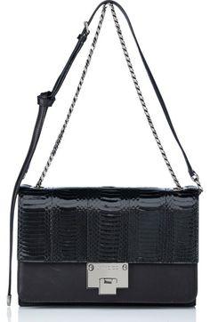 Jimmy Choo  Rebel  Genuine Snakeskin  amp  Leather Shoulder Bag available  at  Nordstrom f5f0e9ddb5