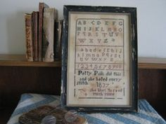 """Patty Polk's Sampler"" is the title of this cross stitch pattern from Falling Star Primitives.  The saying reads ""Patty Polk did this and ha..."