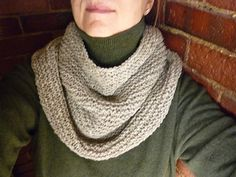 Ravelry: No-Purl Seam-Free Garter-Stitch-in-the-Round Cowl FREE pattern by Kathleen Rogers