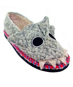 Look at this TigerBear Republik Gray Schtoopid Shark Beastie Slip-On Shoe on #zulily today!