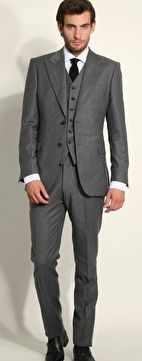 Alta Moda Gray Slim Fit Vested Suit | Men's Wearhouse | Wedding ...