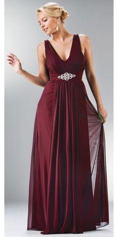 94410708210 CLEARANCE - Plus Size Chiffon Burgundy Dress  discountdressshop  burgundy   plussize  formal