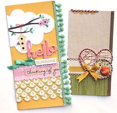 """Hello"" cards by Suzy Plantamura for Creating Keepsakes magazine.  #card #cardmaking #scrapbooking"
