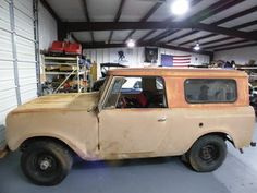 1963 International Harvester Scout - We are doing a mechanical make-over on this Scout. As in finishing engine assembly, front and rear shocks, front and rear differential serviced, and new fuel tanks and fuel lines.
