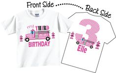 3rd Birthday Shirts and Tshirts with Firetruck for by TheCuteTee, $14.95