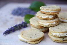 used these as the cookies. halved the lavender. we see.