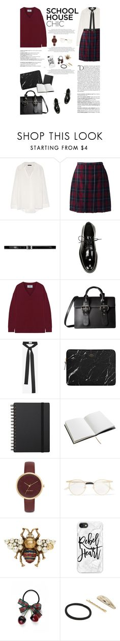 """Untitled #2821"" by amimcqueen ❤ liked on Polyvore featuring The Row, Lands' End, Yves Saint Laurent, Vince, Prada, Vivienne Westwood, House of Hackney, Nine West, Gucci and Casetify"