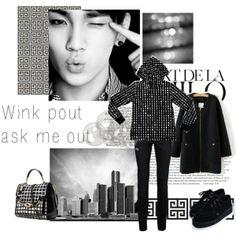 """Here's the Key to my heart"" by muzikgurl on Polyvore #kimkibum #shinee #style #fashion #blackandwhite"