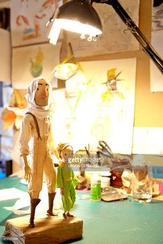 Filming of the animated film Le Petit Prince by Mark Osborne from the On Animation Studios, in Montreal on June 20, 2014.
