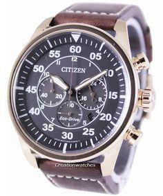Ciudadano Eco-Conduzca aviador cronógrafo CA4213-00E reloj de hombres