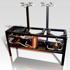 Wort-O-Matic: Baltobrewer's Electric Stand. I want to build this. Nano Brewery, Home Brewery, Home Brewing Beer, Brew Stand, Beer Label Design, Home Brewing Equipment, Beer Recipes, How To Make Beer, Craft Beer
