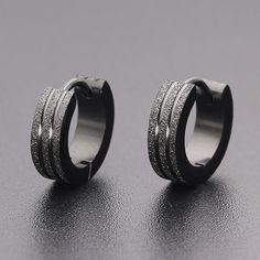 Earrings men s round titanium steel earrings men s jewelry accessories hipster rock punk circle earrings men Cuff Earrings, Circle Earrings, Crystal Earrings, Round Earrings, Men's Fashion Jewelry, Fashion Earrings, Women Jewelry, Hipster Jewelry, Jewelry Rings