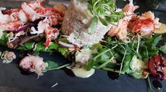 Small crab and crayfish tail salad #healtyeating
