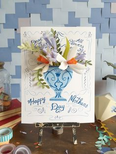 Mother's Day card vase