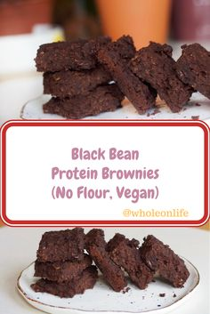 Super easy to make Black Bean Protein Brownies! They are soft and chewy and irrestiable! Give them a try, all you need is 30 minutes before you can indulge without any guilt!