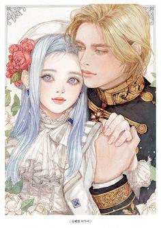Paar Illustration, Couple Illustration, Anime Couples Manga, Cute Anime Couples, Anime Art Girl, Manga Art, Fantasy Couples, Beautiful Fantasy Art, Couple Drawings