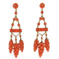 Image result for georgian coral earrings