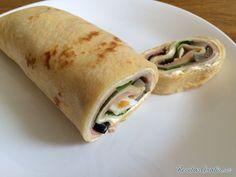 Arrollado salado de panqueques  #Recetas #RecetasFáciles #Cena #CenaLigera #Dinner