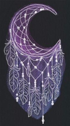 Moonlight Dreamcatcher   Urban Threads: Unique and Awesome Embroidery Designs