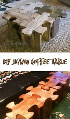 Are you a jigsaw puzzle fan? Then this jigsaw puzzle coffee table might be for you! Is this going to be your next DIY project?