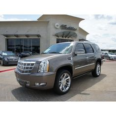 2013 Cadillac Escalade Platinum Edition for sale, Weatherford TX, Vortec 6.2L V8 SFI (E85) 8 Cylinder,Mocha Steel Metallic - corsicanadailysun.autoconx.com (id: 513436847) found on Polyvore