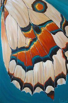 Landed Butterfly Wing Painting – Liz W Fine Art