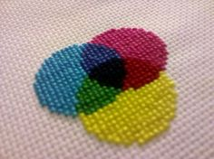 CMYK (sans the K) xstitch color wheel